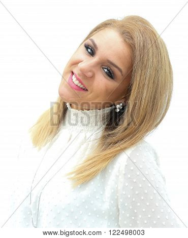 Portrait of a caucasion contemporary young woman