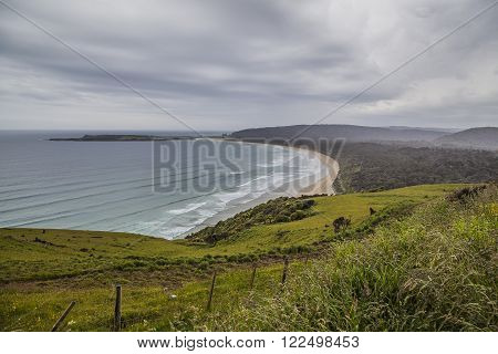 Landscape in the Catlins New Zealand South Island