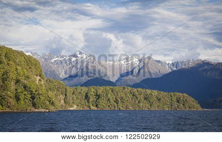 Lake Manapouri Fjordland New Zealand South Island ** Note: Soft Focus at 100%, best at smaller sizes