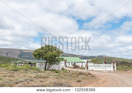 ADDO ELEPHANT NATIONAL PARK SOUTH AFRICA - FEBRUARY 21 2016: Reception buildings of Kuzuko Lodge in a private consession area of the Addo Elephant National Park