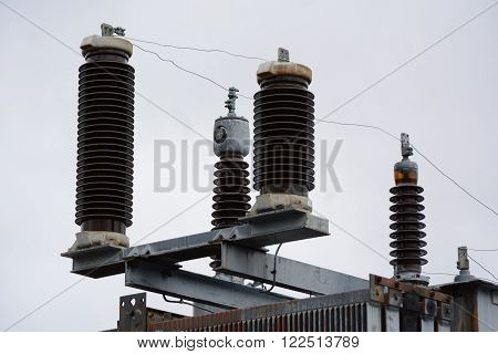 Atlantic County, N.J. - March 20, 2016  Part of the electrical power grid.