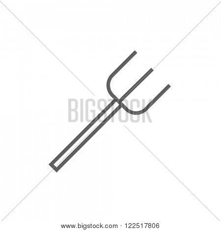 Pitchfork line icon.