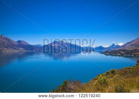 Along the shores of Lake Wakatipu New Zealand ** Note: Visible grain at 100%, best at smaller sizes