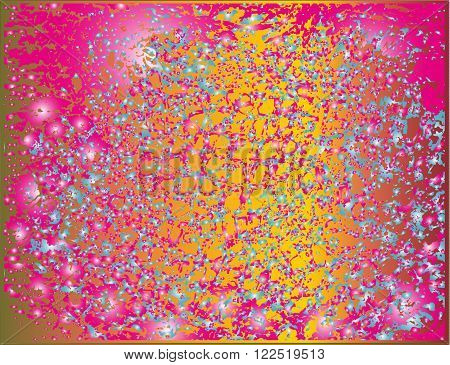 Sparkling bright colors composition for a festive backdrop
