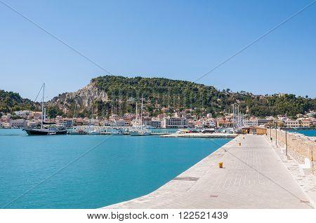 Port in Zante town capital city of Zakynthos Greece