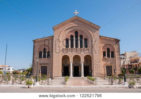 Saint Dionysios Church in Zante town capital city of Zakynthos