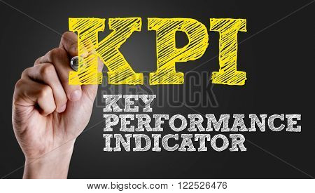 Hand writing the text: KPI