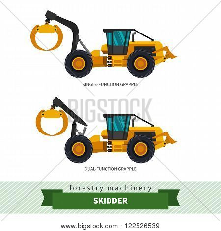 Grapple Skidder Forestry Vehicle