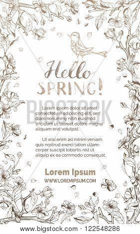 Hello Spring Card.