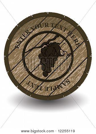 wooden barrel for wine