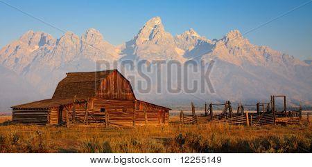 Moulton Barn At Sunrise