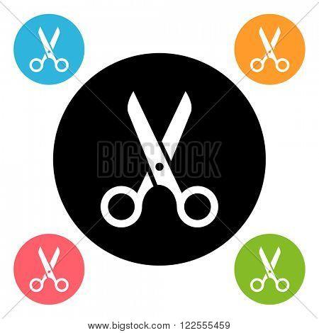 Scissors icon/ Scissors symbol/ Scissors button