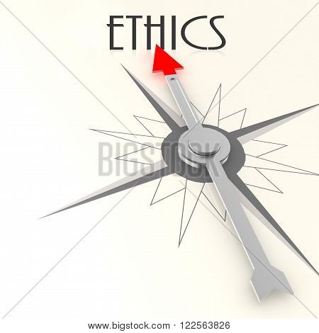 Compass With Ethics Word