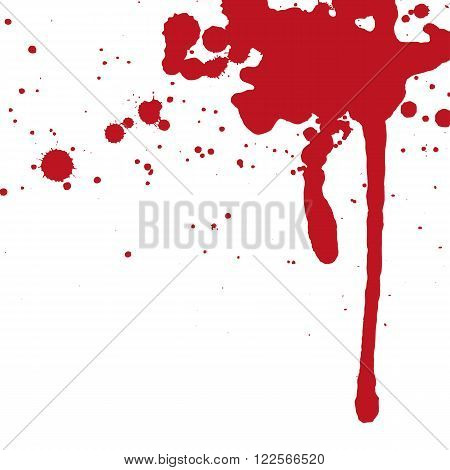 an abstract illustration of red sprayed blood