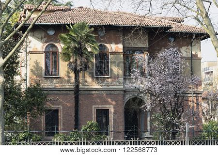 Monza (Brianza Lombardy italy): old house exterior
