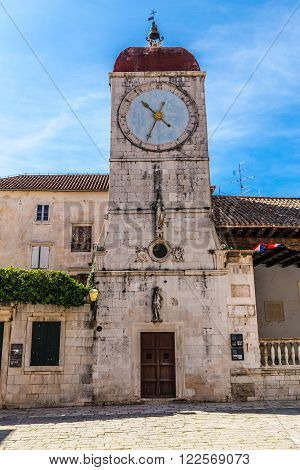 The Clock Tower and City Loggia on John Paul II Square - Trogir Dalmatia Croatia Europe poster