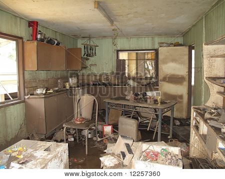 Flood Damaged Kitchen