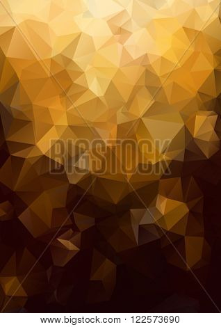 Abstract gold background. Geometric abstract vector background, pastel color. Modern and stylish abstract design poster, cover, card design. Vintage texture, dots pattern and geometric elements