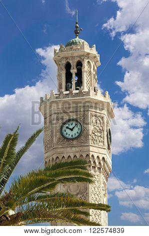 Izmir Clock Tower in Konak Square Turkey