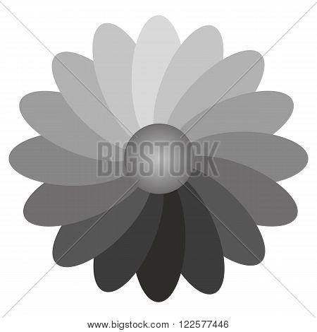 using a flower for the illustration of the gradient