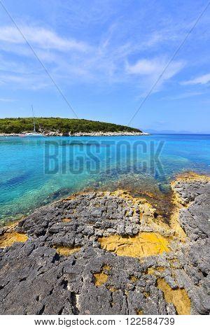 Landscape of Kefalonia island in eastern Greece
