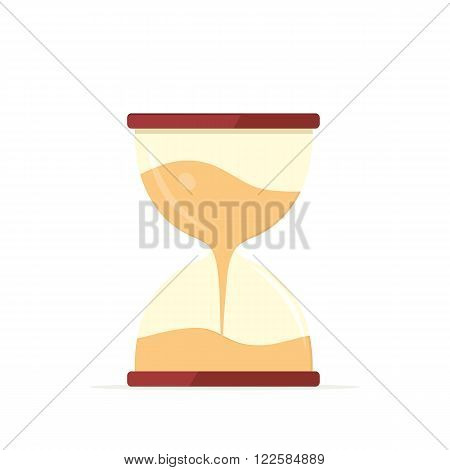 Clock logo icon isolated. Hourglass watch object, time office symbol flat icon. Time vector icon. Timer clock isolated