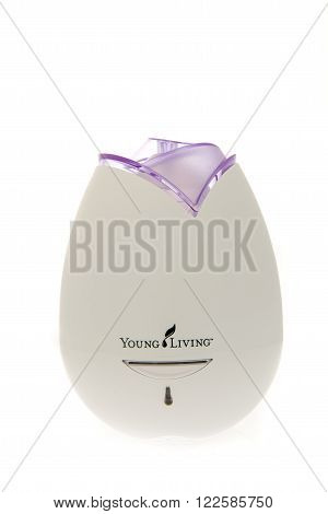 Winneconne WI -27 Oct 2015: A Young Living home diffuser