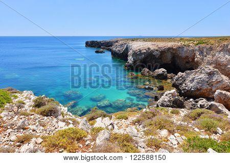 Landscape Of Kefalonia Island In Greece