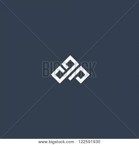 Abstract three sided symbol