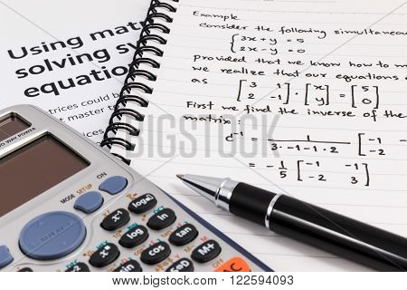 Step To Using Matrices When Solving System Of Equations.
