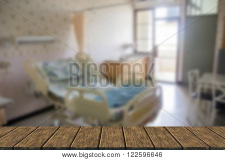 Empty Bed In Hospital Room