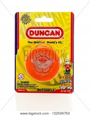 Winneconne, WI - 5 Feb 2016: Package of the original Yo-Yo made by Duncan.