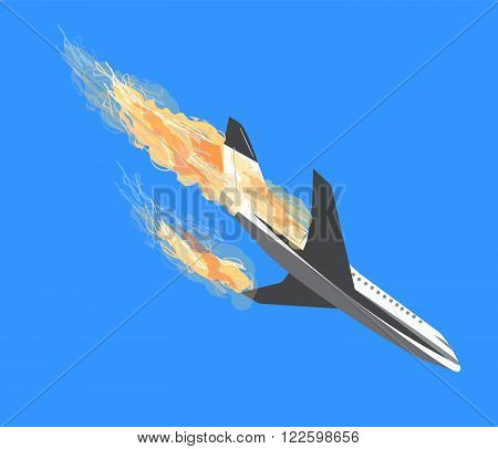 plane crash Plane Accident aircraft bombing plane crashes terrorism by plane falling aircraft Terrorist act Air Crash vector icon plane vector plane crash vector Passenger air plane crash