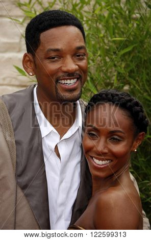 Will Smith and Jada Pinkett Smith at the Los Angeles Premiere of