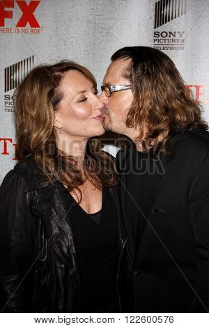 Katey Sagal and Kurt Sutter at the Premiere Screening of FX's