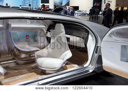 Mercedes Benz Autonomous Concept Car Interior