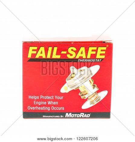 Winneconne WI - 20 April 2015: Fail-safe thermostat manufactured by MotoRad.