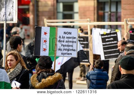 Syrian Diaspora Protests Against Syrian War