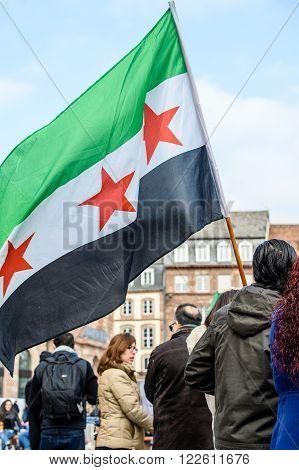 Syrian Diaspora Protests Against Syrian War
