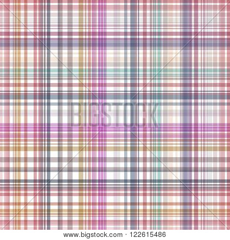 Seamless Colorful Checkered Pattern. Vector Illustration For Your Design.
