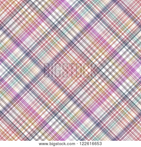 Seamless Cross Colorful, Checkered Diagonal Pattern. Vector Eps 10.