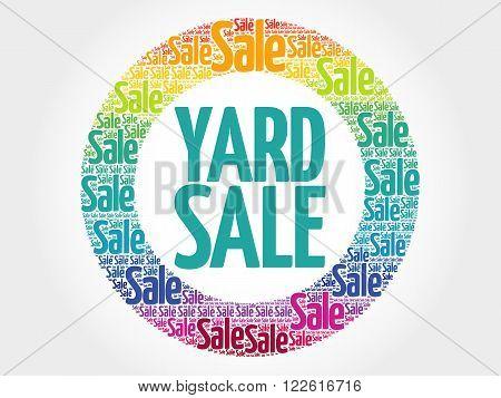 Yard Sale Stamp Words Cloud