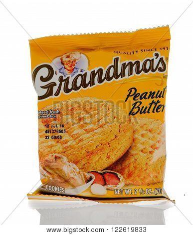 Winneconne WI - 1 March 2016: A package of Grandma's cookies in peanut butter flavor
