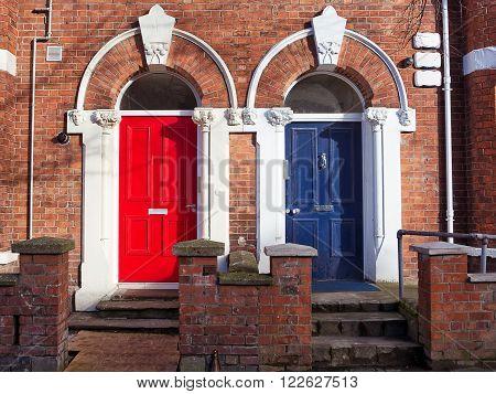 The Colorured Doors in Belfast (United Kingdom)