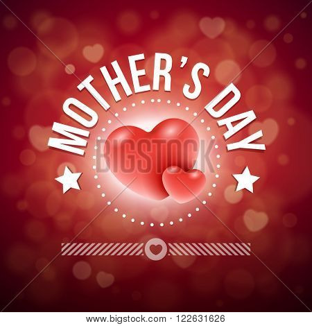 Vector Mother's Day greeting card design. Elements are layered separately in vector file.