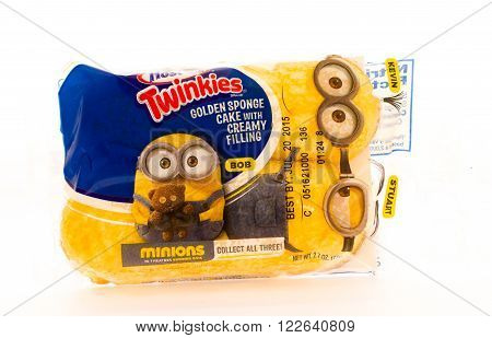 Winneconni WI - 16 June 2015: Package of Hostess twinkies