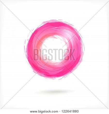 Pink Business Abstract Circle icon. vector logo design template for Corporate, Media, Technology style.