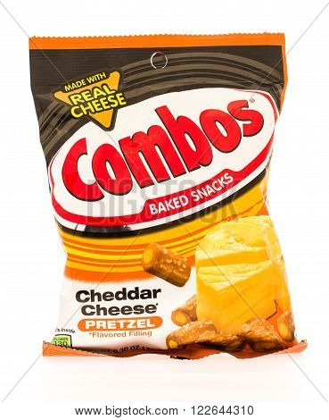 Winneconni WI - 19 June 2015: Bag of Combos in cheddar cheese flavor