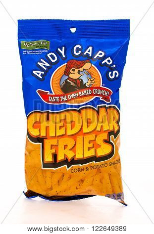 Winneconni WI - 16 June 2015: Bag of Andy Capp's chedder fries