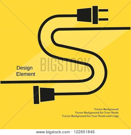 Creative Typography Poster Concept Of Unplugged Electric Plug And Socket Flat Design Idea For
